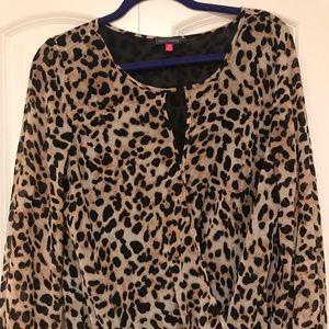 Vince Camuto Leopard Blouse